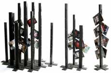 Towering Magazine Racks
