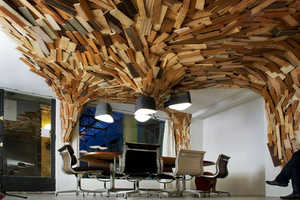 Paul Coudamy Creates the 'Bears Cave' From Discarded Wood