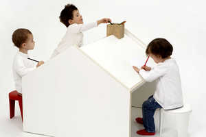 The Deskhouse is a Children's Playhouse and Art Desk