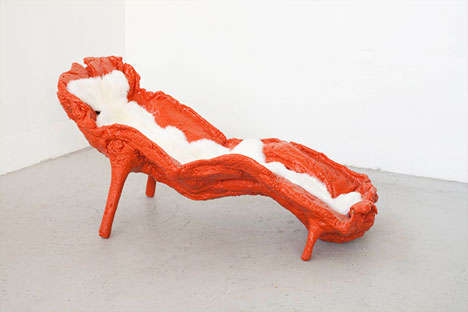 Food-Inspired Seating - The Fossil Chaise Lounge by Atelier Van Lieshout