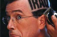 Head Shaving Covers - Stephen Colbert's Eye-Popping Newsweek Stunt