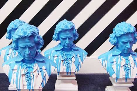 Paint-Dipped Busts - Ludwig Creates Blue Lacquered Beethoven for Conveyor @ Fred Segal