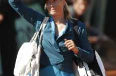 Tennis Denim - Maria Sharapova Brings Blue Jeans to the Court at French Open