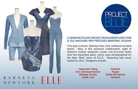 Charitable Jean Dresses - Barney's and ELLE Team Up for Recycled Jeans Auction