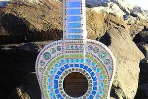 Crooked Moon Mosaics Makes 'Baby Sings the Blues' Guitar