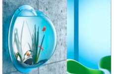 The Wall-Mounted Fish Bowl is Perfect for Small Spaces