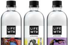 Black Artist-Supporting Water Bottles - Water Bottle Brand LIFEWTR Debuts a Black Art Rising Series