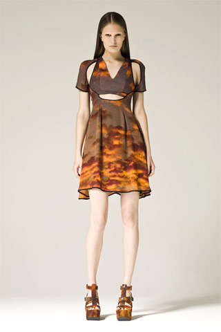 Cutaway Cloud Couture - Christopher Kane Pre-Fall 09 Collection is Nuclear Chic