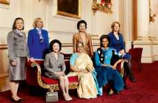 Iconic Political Portraits - 'First Wives Club' in British Vogue July 2009 Issue