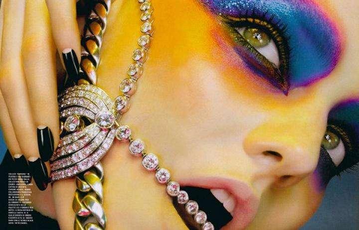 Diamond-Studded Faces