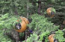 Personal Tree Pods - Hanging Spherical Environments by Free Spirit (UPDATE)