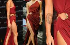 Unbelievably High Slits - Megan Fox's Leggy Red Dress at Berlin Premiere