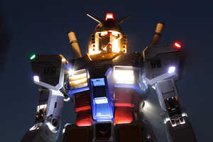 The Gundamn Robot Stands 59 Feet Tall in Tokyo (UPDATE)