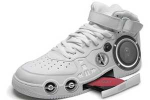 The Gangster CD Stereo Sneaker Plays Your Favourite Tracks