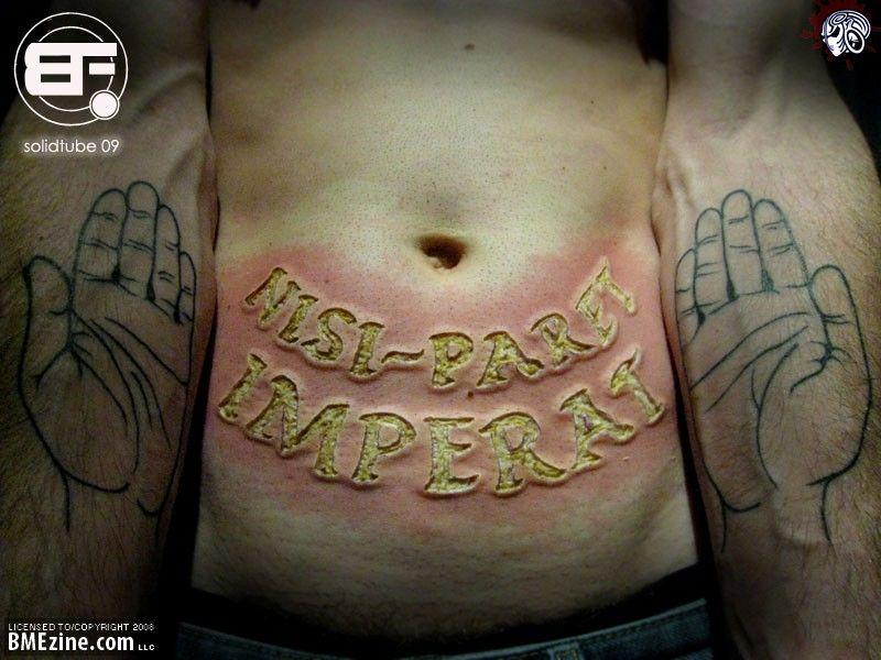 Human Belly Branding