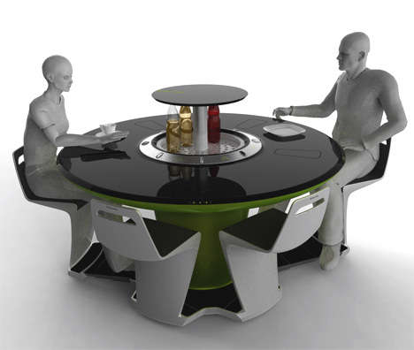 Touch-Screen Future Kitchens - Petr Kubik's Electrolux Futuristic Dining Table