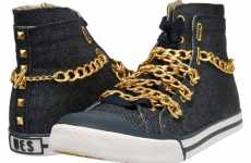 Chained Sneakers - 'Nise' Badass Denim Footwear by Upper Echelon Shoes