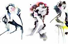 Amelie Hegardt's Illustrative Watercolor Fashion Design