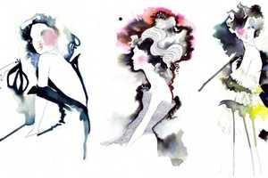 Amelie Hegardt's Illustrative Watercolor Fashion Design