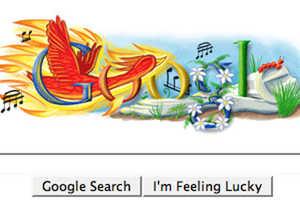 Google Unveils Igor Stravinsky Firebird Logo