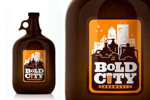 Bold City Brewery Uses Old-School Style Prints on Labels