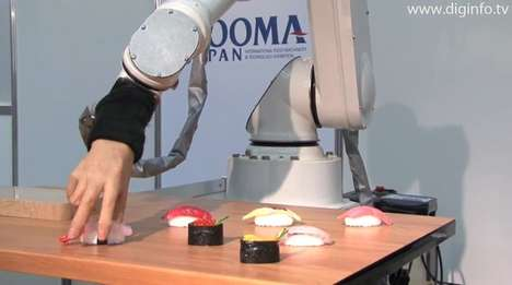 Sushi-Making Robots - Chef Robot Uses Realistic FANUC M-430iA Hand to Make Nigiri