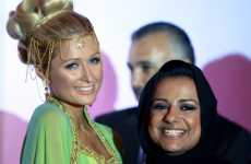 "Sea Green Gowns - Paris Hilton is Princess Pretty at Press Conference for ""My New BFF"" Dubai"