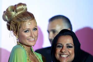 Paris Hilton is Princess Pretty at Press Conference for