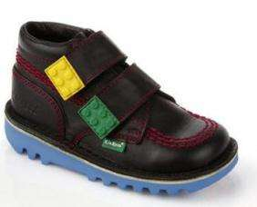 Building Block Boots - Kickers Teams Up With LEGO for Colorful Children's Footwear