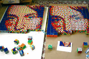 Invader Gallery Displays Creativity With Rubik's Cube Art