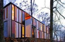 Forest-Hidden Flats - The Camouflage House Blends in With Nature