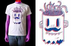 3-D Style T-Shirts - Flakonkishochki Fashions are Flashy but Freaky