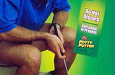 The Potty Putter Gets Rid of Bathroom Boredom