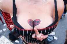 Inked Cleavage - Chest Tattoos are Becoming a Sexy Lady Label for the Firm and Wrinkled