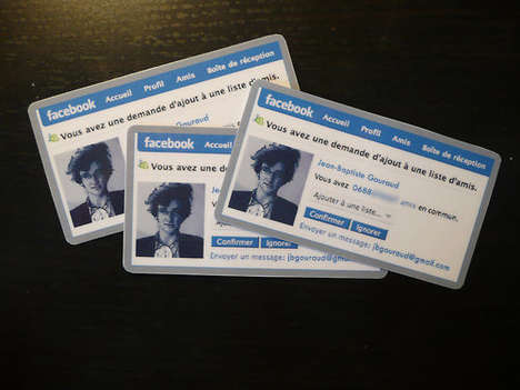 Social Media Certifications - Facebook-Style Business Cards are Fun and Friendly