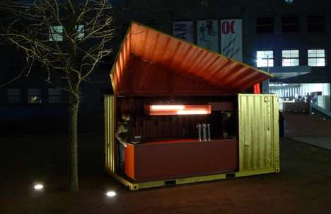 Gold-Plated Pop-Up Bars - Andreas Strauss Makes Mobile Food a Little More Luxe