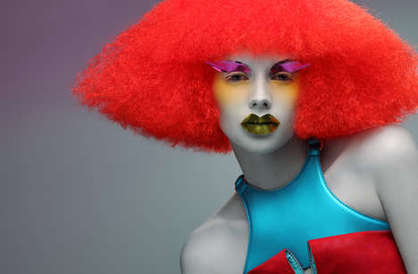 Ronald McDonald Hair - Space-Age Clown Locks in 'Alien Dolls' by Paco Peregrin & Kattaca