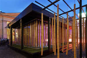 ACK Defines Human Space by Bamboo and Metal