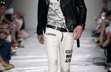 Newspaper Couture - Moschino's Menswear Spring 2010 Line Made From Headlines