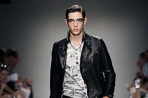 Moschino's Menswear Spring 2010 Line Made From Headlines