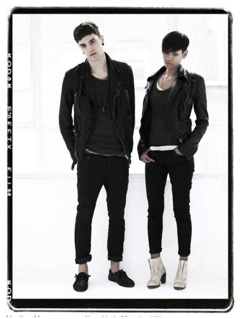 Unisex Haircuts - AllSaints S/S '09 Features Matching 'Dos & Muted Hues