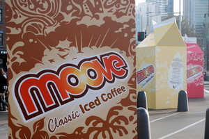 Moove Milk Grabs Attention With 3 Meter High Boxes