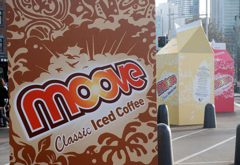 Colossal Carton Campaigns - Moove Milk Grabs Attention With 3 Meter High Boxes