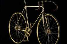 Crystallized Bicycles - Limited Edition Swarovski 24k Gold Bike is Shiny Cycling