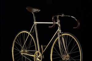 Limited Edition Swarovski 24k Gold Bike is Shiny Cycling