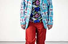 Eye-Popping Patterned Blazers - Bold Jackets Burst Out on Spring Runway
