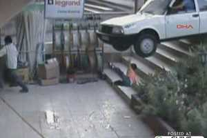 4-Year-Old Survives Freak Car Accident Down Stairs