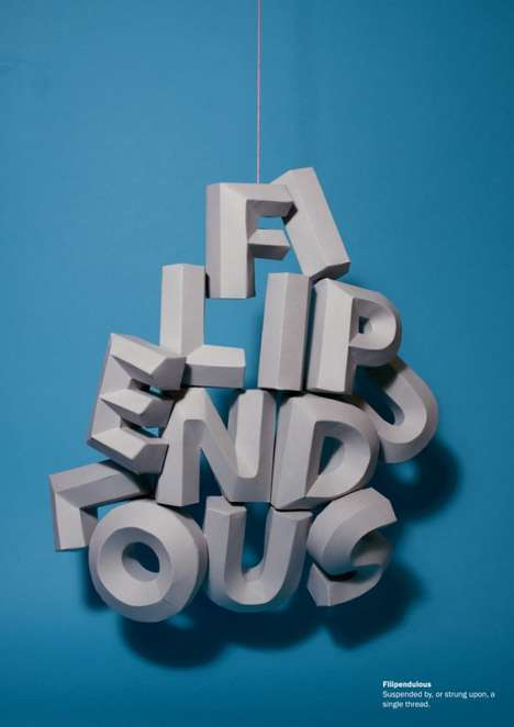 3D Visual Words - Lauren Duly Gives Literal Definitions With an Artful Touch