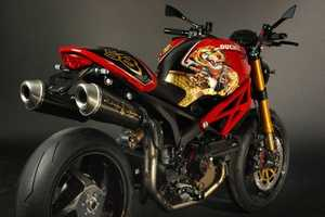 Christian Audigier Creates Customized Ducati Monster 1100