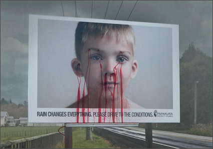 Bleeding Billboards - Shocking Approach to Promote Road Safety in New Zealand